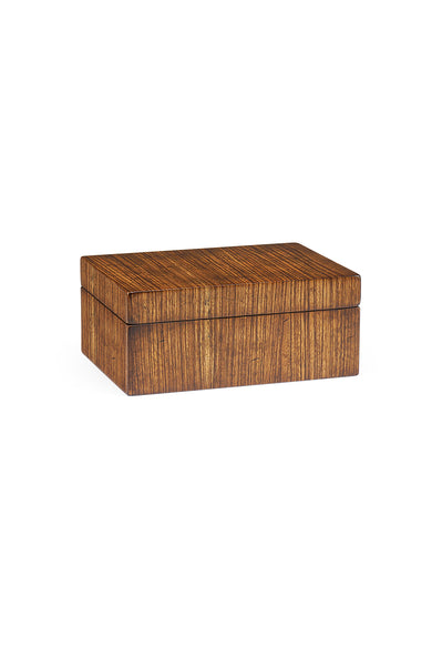 Rectangular Exotic Zebrano Box