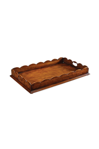 Scalloped Edge Walnut Tray