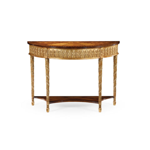 Gilded Console With Shelf (Small)
