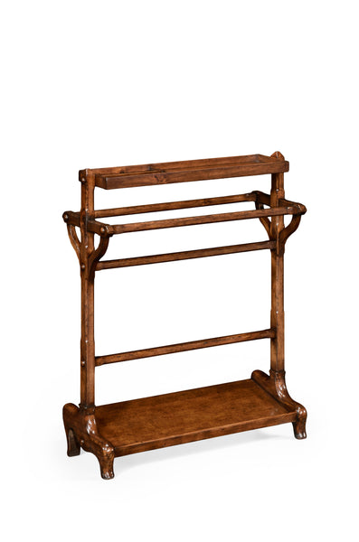 Victorian Style Walnut Towel Rack