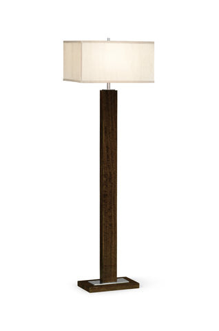 Black Eucalyptus Rectangular Floor Lamp