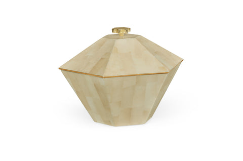 Dutch White Eggshell Hexagonal Box
