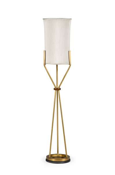 Circular Brass Floor Lamp