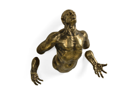 Anitque Brass Floating Man