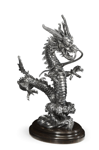 Antique Stainless Steel Dragon Statue