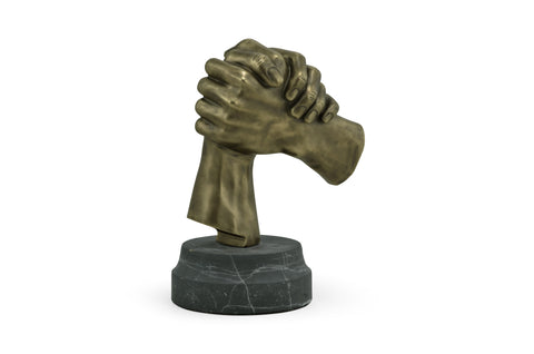 Antique Brass Gripping Hands