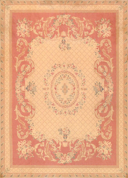 Abusson Collection Hand-Knotted Wool Area Rug