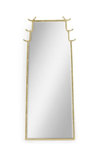 Asian Fusion Dorado Bronze Floor Standing Mirror