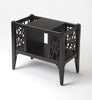 Chippendale Black Licorice Magazine Basket