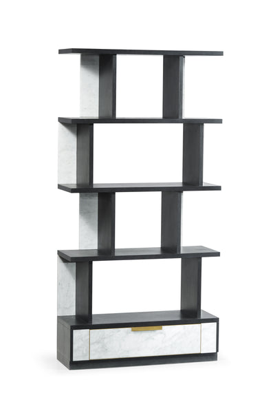 Contemporary Four-Tier Marble With Bottom Drawer