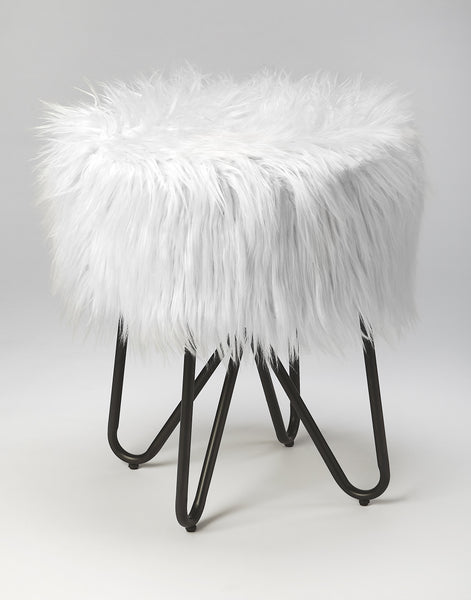 Ezra Faux Fur Stool