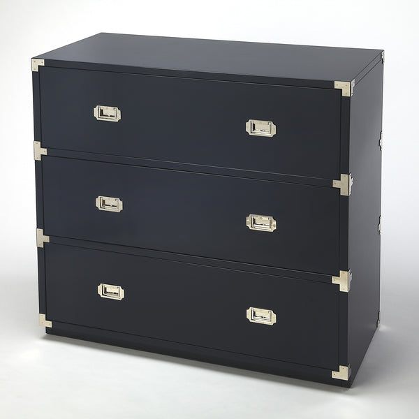 Anew Blue 3 Drawer Campaign Chest