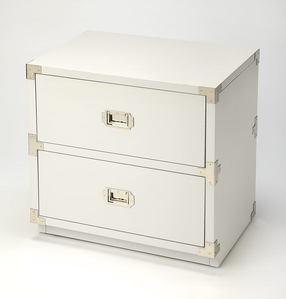 Anew White 2 Drawer Campaign Chest