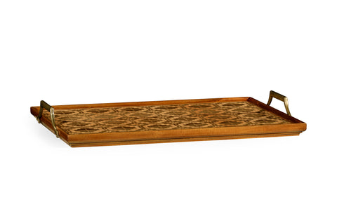 Rectangular Natural Acacia & Geometric Inlaid Tray