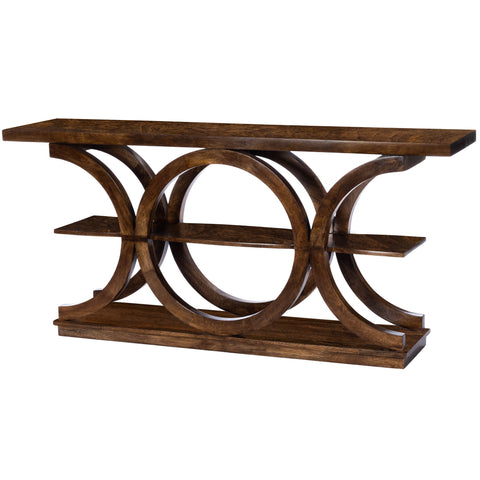 Stowe Brown Rustic Console Table