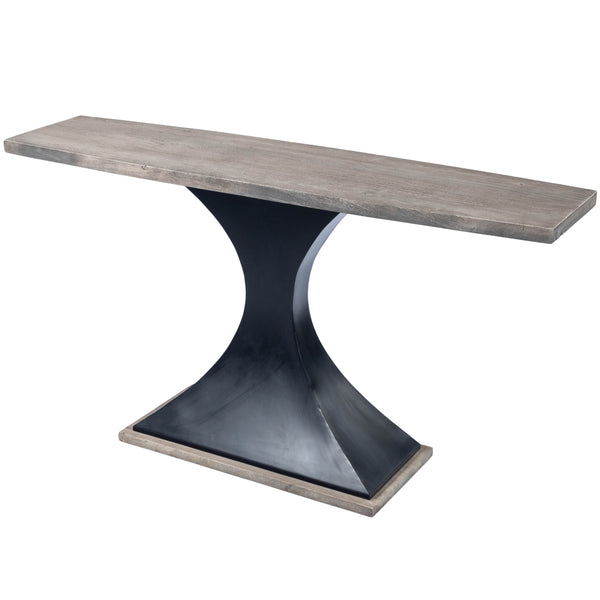 Lidiya Gray Wood & Metal Console Table
