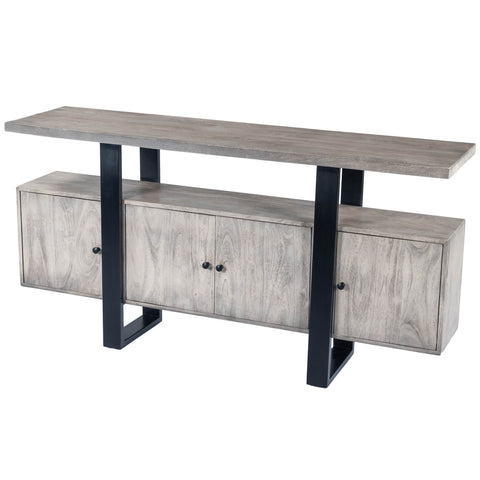 Raitis Gray Wood & Metal Sideboard