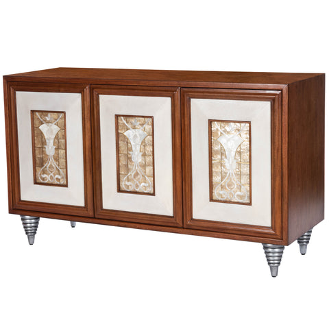 Shelly Leather & Capiz Shell Inlay Sideboard