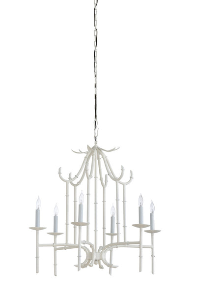 Bamboo Chandelier - White