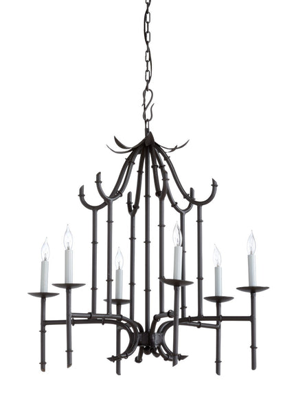 Bamboo Chandelier - Silver