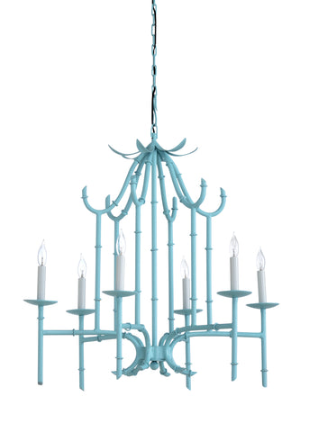 Bamboo Chandelier - Blue