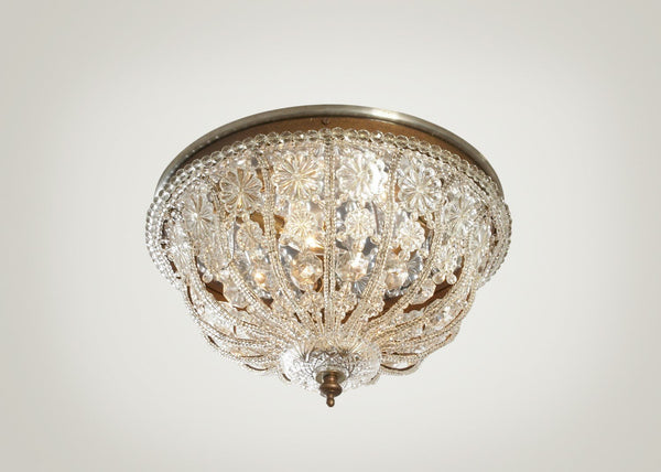Large Crystal Flush Mount