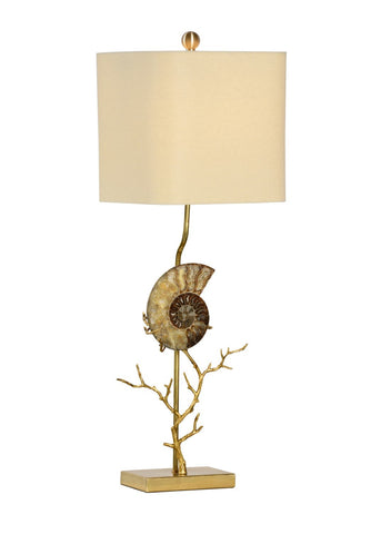 Ammonite Left Lamp