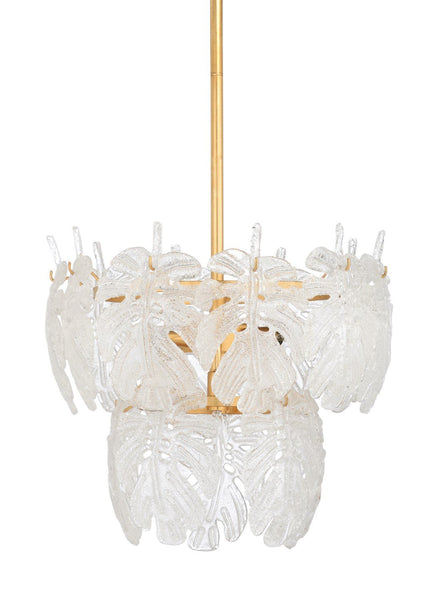 Glass Palm Leaf Chandelier