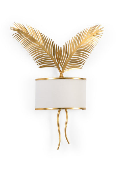 Double Palm Sconce - Gold