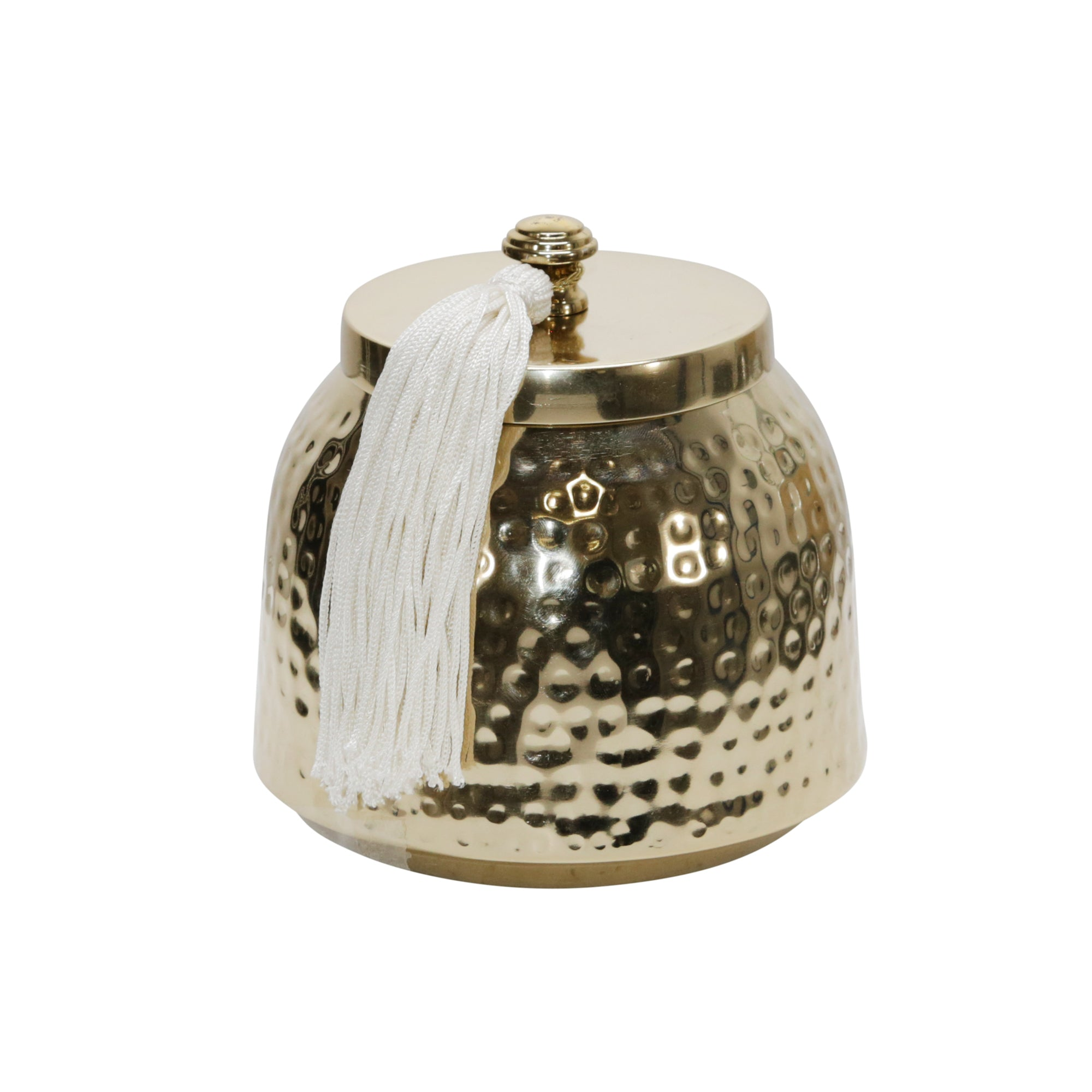 Soy Wax Candle W/metal Canister By Liv & Skye Gold