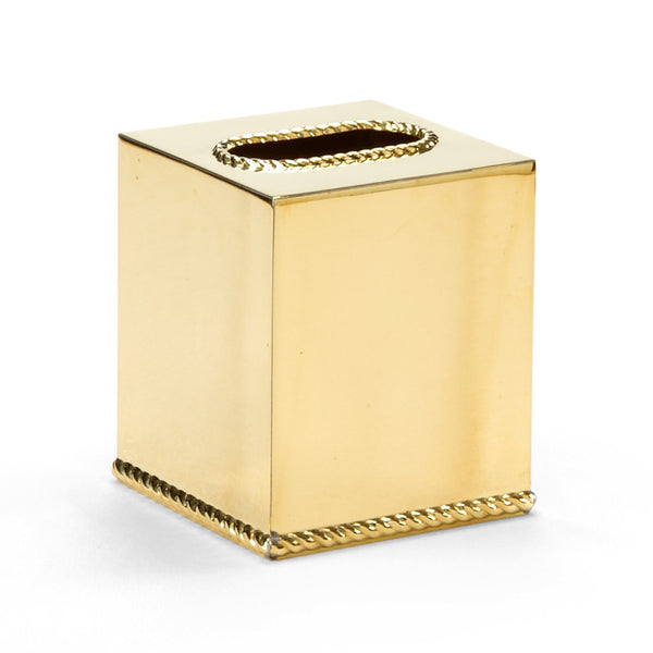 Brass Tissue Box Cover