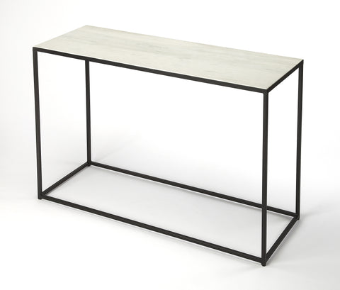 Phinney Marble & Metal Console Table