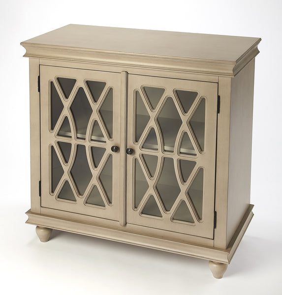 Lansing Natural Wood 2 Door Accent Cabinet