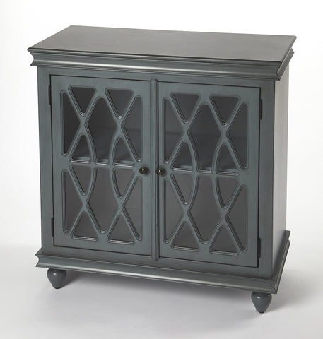 Lansing Twilight Blue 2 Door Accent Cabinet
