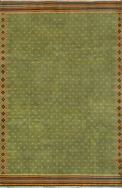 Modern Hand-Knotted Wool Area Rug
