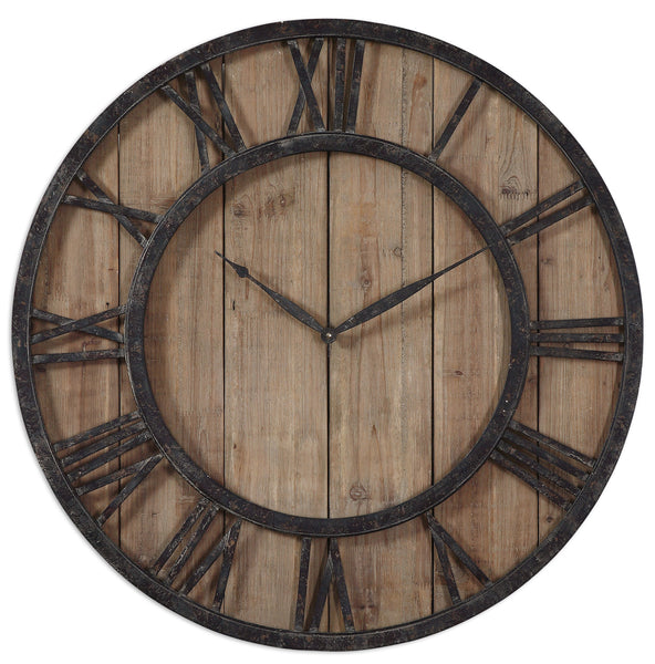Powell Wooden Wall Clock