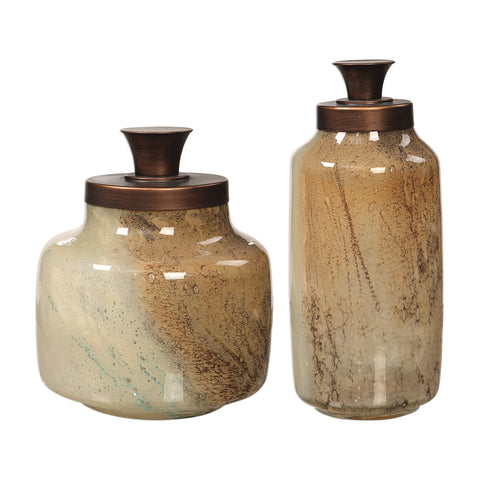 Elia Glass Containers, S/2