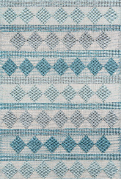 Contemporary Hand Woven Blue Rug