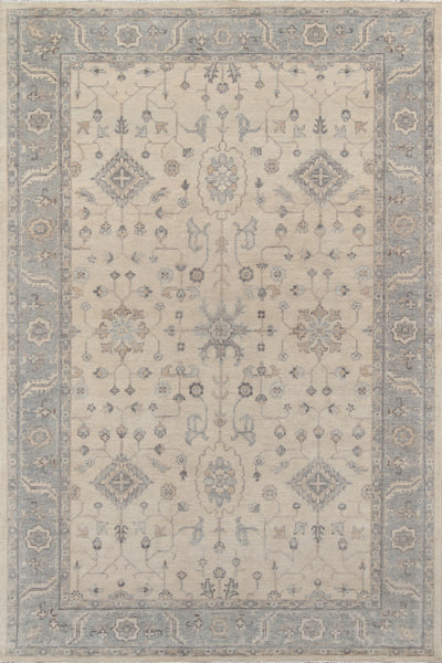 Traditional Hand Knotted Beige Rug