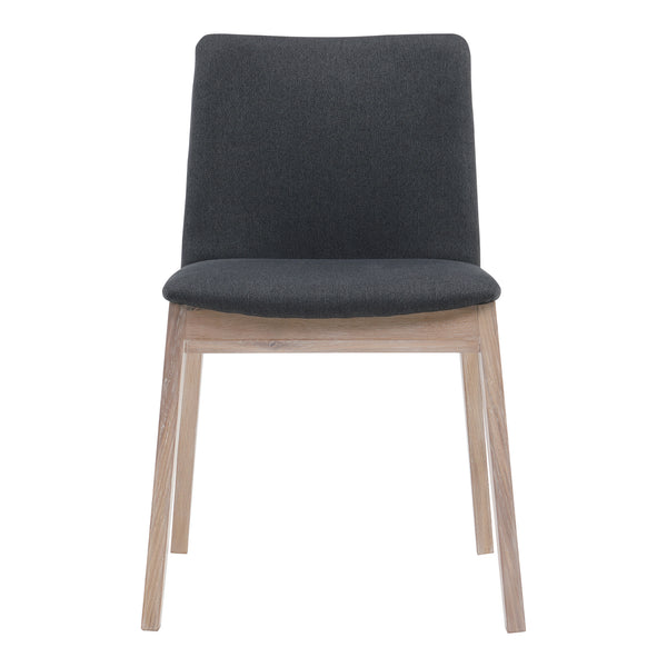 Deco Oak Dining Chair Grey-Set Of Two