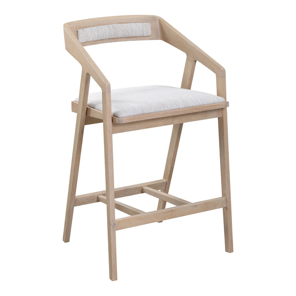 Padma Oak Counter Stool Light Grey