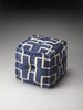 Berkeley Blue Cotton Pouffe
