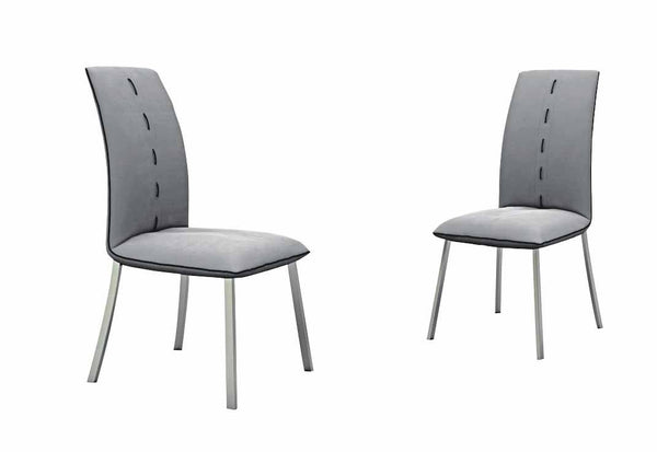 Fabric Dining Chair with Stainless Steel Base