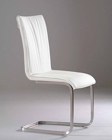 PU Dining Chair With Chrome Base