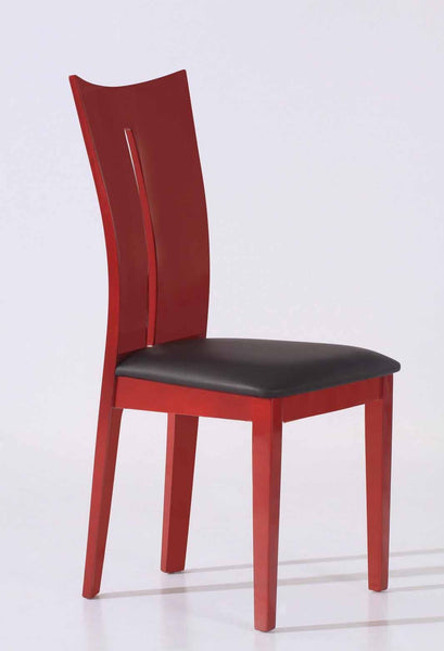 Dining Chair With Lacquer Frame And PU Seat