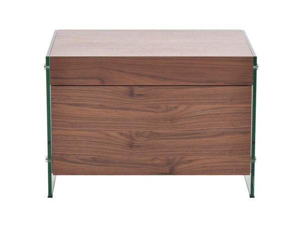Il Vetro Walnut Veneer Nightstand And End Table