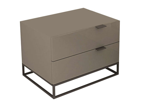 Vizzione High Gloss Nightstand And End Table
