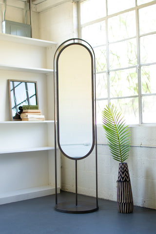 Tall Oval Floor Mirror