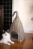 Hanging Wicker Cat Basket