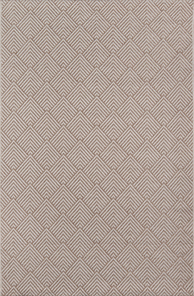 Contemporary Machine Made Beige Rug